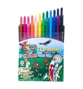 Crayon Retract Estuche x 16 Color Motion