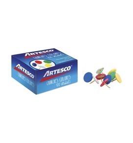 Chinches Colores Surtidos Caja x 100 10 mm Artesco