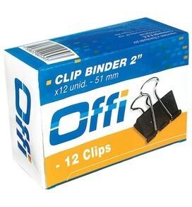Clip Binder 51 mm Caja x 12 unidades Offi