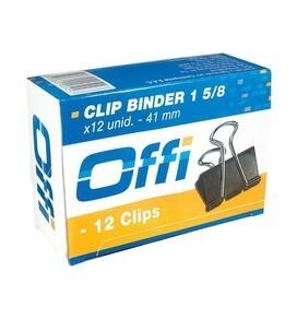 Clip Binder 41 mm Caja x 12 unid. Offi