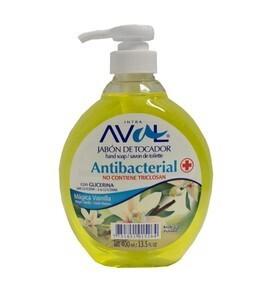 Jabón Antibacterial Mágica Vainilla Frasco x 400 ml Aval